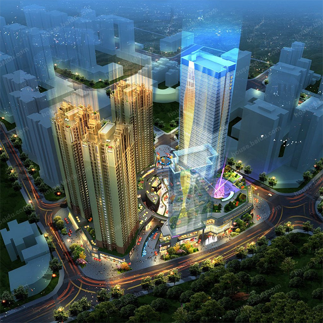 重庆蓝光大渡口39亩项目(中央广场)